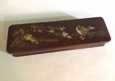 Antique Meiji Japanese Lacquerware Lidded Box