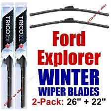 2011+ Ford Explorer WINTER Wipers 2-Pack Super-Premium - 35260/35220