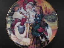 1994 Avon Christmas Plate THE WONDER OF CHRISTMAS Santa Girl & Doll MIB