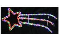 Xmas Shooting Star Rope Light In & Outdoor Christmas Decoration - 90x29cm