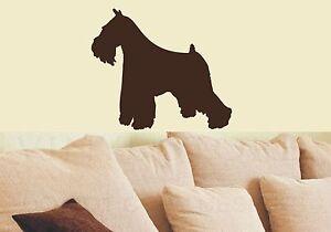Wand-Aufkleber- Schnauzer, Hund 2 Größen und  diverse Farben zur Wahl - Art811
