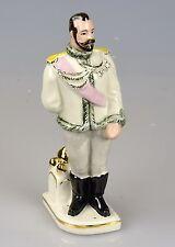 Russische Porzellanfigur Porzellan Zar Nikolaus II Russia Russland