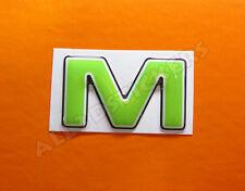 Pegatina Letra M 3D Color Verde Tamaño 25mm