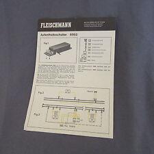 """702B 2 Feuilles """"Ancien Catalogue"""" Fleischmann 14 X 20 Dispositif d'arrêt"""