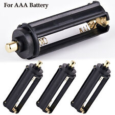3 x 3 AAA Battery Batteries Plastic Holder Spring Case Box for Flashlight Torch