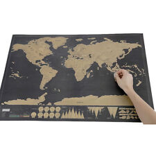 Travel Edition Scratch Off World Map Poster Personalized Journal Log Home Decor