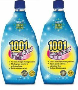 2x 1001 Carpet Machine Shampoo 3in1 500ml Professional Clean