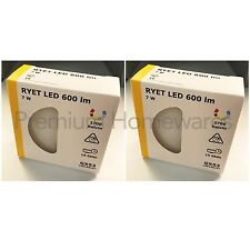2 x IKEA RYET 600lm GX53 LED Light Bulbs (2700K Warm White/110°/7W)