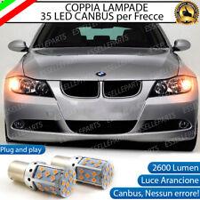 COPPIA LAMPADE PY21W BAU15S CANBUS 35 LED BMW SERIE 3 E90 E91 FRECCE ANTERIORI