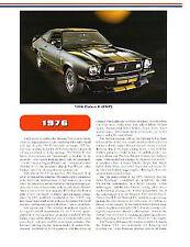 1976 Ford Mustang II + Cobra II + Stallion Article + VIN Decode - Must See !!