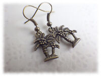 Palmen - Ohrringe Ohrhänger Vintage Stil bronzefarben exotik exotisch etno ethno