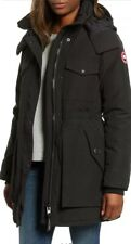 NWT 100% Authentic Canada Goose Black Gabriola Hooded Parka Coat Size S