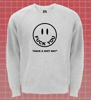 Smile F*ck You Face Sweatshirt Funny Thank You No Jumper Tumblr Grunge Cute Top