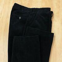 POLO RALPH LAUREN flat front wide wale corduroy pants 34 x 30 tag blue