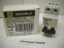 Square D Mg24125 Circuit Breaker 1A 2 Pole 277/480V New Condition In Box