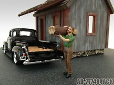LOGGER JACK FIGURE FOR 1:24 SCALE DIECAST MODEL CARS BY AMERICAN DIORAMA 77748