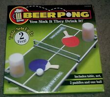 New - Beer Pong Drinking Game with Paddles and Net: You sink it, they drink it!