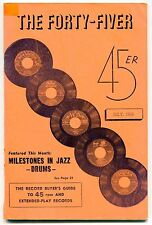 """""""THE FORTY-FIVER"""" 45/EP Guide - July 1956 - JAZZ DRUMS"""