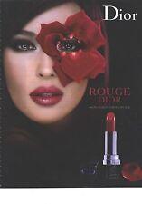 PUBLICITE  ADVERTISING 2008  DIOR maquillage  &  Monica Bellucci rouge lèvres