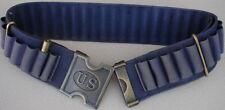 "Replica  Span. Am. War. 45-70 BLUE Web Cartridge Belt & Brass US ""H"" Buckle"