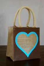 jute lunch bag Heart