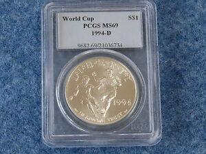 1994-D World Cup Commemorative Silver Dollar PCGS MS69 Gem BU B7633