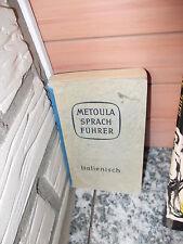 Metoula Sprachführer Italienisch, von Dr. Herbert Frenzel