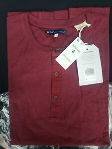 LEVI'S MADE & CRAFTED COTTON CASHMERE HENLEY SHIRT SZ L  NWT $158