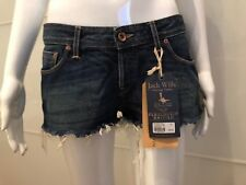 JACK WILLS JEANS DENIM SHORTS size S BLUE CASUAL HOT PANTS NEW WITH TAG BRITISH