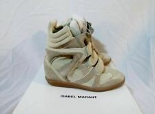 NEW ISABEL MARANT OVER BASKET WILLOW Sneaker 37 6.5 BEIGE Leather TRAINER Shoe S