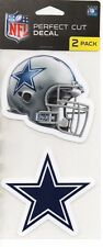"""Dallas Cowboys 2 Pack Perfect Cut Decals Approx 4"""" x 4"""" Each Decal 4"""" x 8"""" Set"""