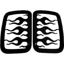 Chevrolet S-10 GMC  Extended Cab Side Window Covers Flames V-Tech 3918 1994-2003