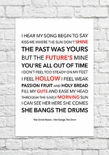 The Stone Roses - She Bangs The Drum - Song Lyric Art Poster - A4 Size