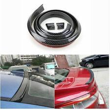 1.5M Universal Car Rear Wing Lip Spoiler Tail Carbon Fiber Soft Style Sticker