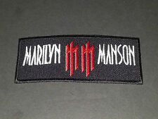 PUNK ROCK METAL MUSIC SEW/IRON ON PATCH:- MARILYN MANSON (a)