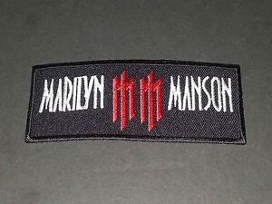 Marilyn Manson Sew or Iron On Patch