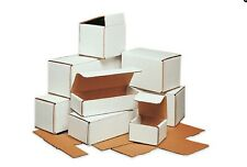 Bundle of 50 Pieces White Corrugated Mailers Many Sizes Shipping Packing Boxes