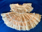 vintage girls peach colored full dress pageant party wedding 3t Kids Avenue bran