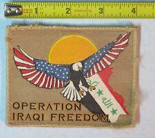 Operation Iraqi Freedom Military Iraq War Uniform Desert Storm Patch Gulf OIF