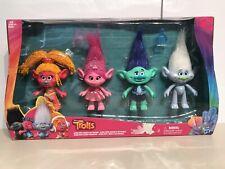 "New Dreamworks Troll Dolls 4 Pack 9"" Tall Dj Suki Poppy Branch Guy Diamond"