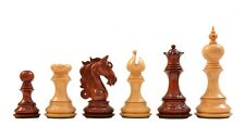 "Admiral II Staunton Chess Pieces in Bud Rosewood & Box Wood - 4.5"" King - VJ097"