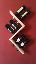 Cantinetta portabottiglie di vino in legno da parete muro appeso porta bottiglie