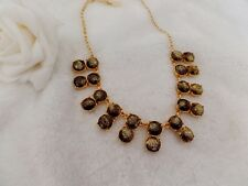 """Kate Spade """"STEAL THE SPOTLIGHT"""" GLITTER GOLD COLLAR NECKLACE"""