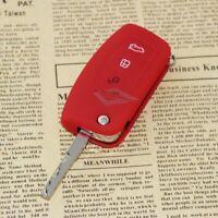 Schlüsseltasche Schlüsseletui Silikon Key Cover ROT für FORD FOCUS 2