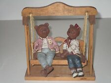 Sarah's Attic 1989 Bailey & Beulah Bears w/Swing Rare