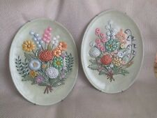 "Vintage  handpainted ceramic wall decor gifts rare 13"" x 11"" Decorative"