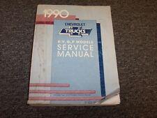 1990 Chevy G10 G20 G30 Van Shop Service Repair Manual 4.3L 5.0L 5.7L 6.2L V6 V8