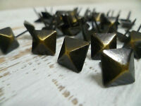 Upholstery Nails - Furniture Studs/Tacks/Pins - 16mm Bronze - Diamond - 50 Count