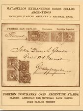 Argentinien / Foreign Postmarks over Argentine stamps. Classic,American issues