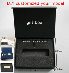 Black Packing Box Jewel Cases Wholesales USB Wedding Business Gift Paper Boxes